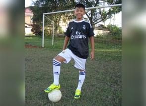From a sponsored child to a soccer player