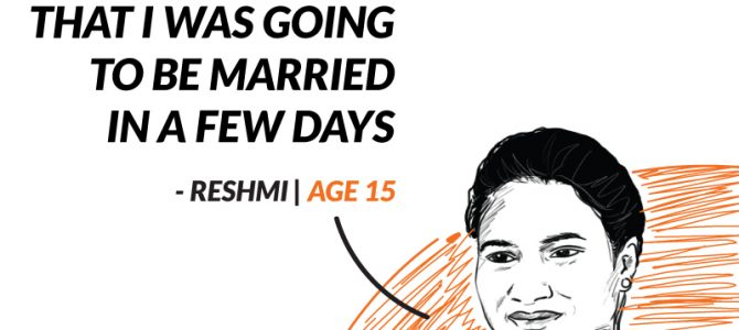 Saying no to child marriage and yes to an education