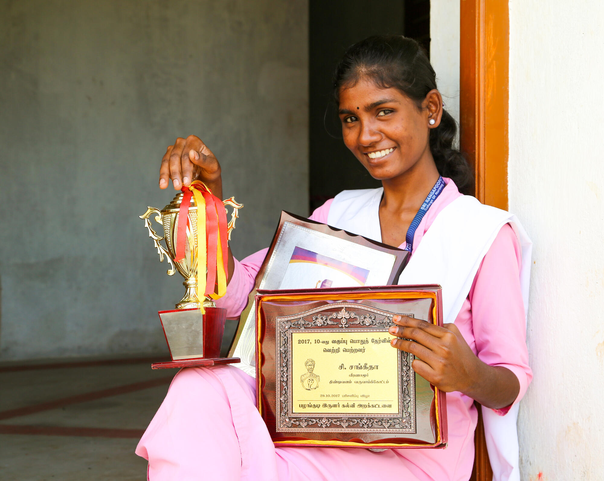 Sangeetha's journey to be the first graduate of her Village